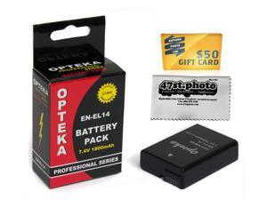 EN-EL14 ENEL14 Lithium Battery for Nikon D5300 D5200 D5100 D3300 D3200 D3100 Df Coolpix P7100 P7000 P7700 P7800
