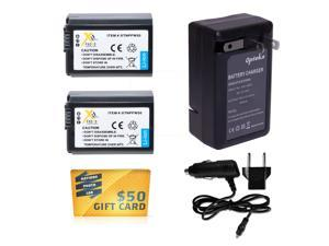 2 x NP-FW50 NPFW50 Battery + Rapid Travel Charger for SONY NEX-7 NEX-6 NEX-5N NEX-3N A3000 A5000 Alpha 7 7R 7S DSC-RX10 RX10 A6000 NEX-5R NEX-5T NEX-5 NEX-3 NEX-C3 NEXC5 SLT A33 A37 A55 RX10 DSCRX10