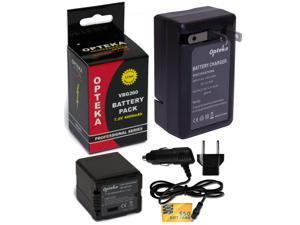 VW-VBG260 VBG260 Battery + Charger for Panasonic Camcorder HDC SDR VDR AG PV AC7 HMC40 HMC70 HMC150 HS100 HS20 HS200 TM700K TM300 TM20S SDT750K SX5 SD700K SD700 SD600 SD9 H90K H80R H80A H80K H80S