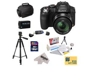 Panasonic Lumix DMC-FZ200 Digital Camera with 3-Inch LCD With 16GB SDHC Card, Reader, Battery,  Case, Tripod, Lens Cleaning Kit including LCD Screen Protectors, $50 Photo Print Gift Card