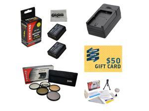 2 Extended Life Replacement Battery Packs For the Canon LP-E10 LPE10 2000MAH Each 4000MAH in Total For The for Canon EOS Rebel T3 T5 1100D 1200D Kiss X50 DSLR 2 Batteries + $50 Photo Print Gift Card!