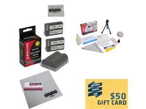 3 Extended Life Replacement Battery Packs For the Nikon ENEL3E EN-EL3E 2000MAH Each 6000MAH in Total For The Nikon Digital SLR Cameras Nikon D700, D300, D200, D100, D90, D80, D70, D70s, & D50 DSLR 3 B