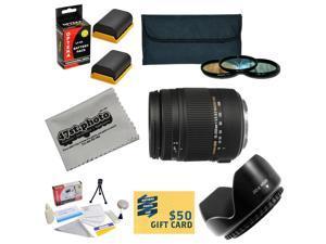 Sigma Super Zoom 18-250mm f/3.5-6.3 DC Macro OS HSM (Optical Stabilizer) 883-101 Lens For the Canon EOS 5D Mark 2 3 II III 5DM2 5DM3 6D 7D 60D 60Da 70D DSLR Digital Camera Includes 3 Piece 62mm Pro