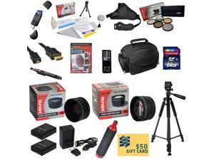 Ultimate Kit for Nikon D100 D200 D300 D300s with 64GB SDXC Card, 2 Batteries, Charger, 0.43x + 2.2x Lens, 5 Piece Filter Kit, HDMI Cable, Padded Gadget Bag, Tripod, Handgrip, DVD, $50 Gift Card, More