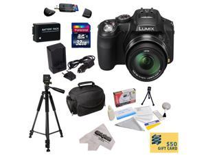 Panasonic Lumix DMC-FZ200 Digital Camera with 3-Inch LCD With 32GB SDHC Card, Reader, Battery, Rapid Charger,  Case, Tripod, Lens Cleaning Kit including LCD Screen Protectors, $50 Gift Card