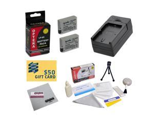 2 Extended Life Replacement Batteries For Canon LP-E8 For EOS Rebel T2i T3i T4i T5i 550D 600D 650D 700D DSLR Digital Camera + 1 hour Charger + Deluxe Cleaning Kit + Mini Tripod + $50 Photo Gift Card!