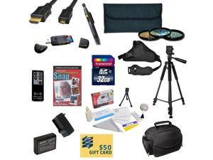 Accessory Kit for Canon Rebel T3 Includes 32GB SDHC Card + Card Reader + Battery + Travel Charger + 3 Filter Kit + HDMI Cable + Gadget Bag + Tripod + Lens Pen + Cleaning Kit + DVD + $50 Gift Card