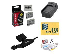 2 Extended Life Replacement Battery Packs For Canon LP-E8 LPE8 For EOS Rebel T2i T3i T4i T5i + Rapid Battery Charger + Opteka GS-3 Grip Strap + Deluxe Cleaning Kit + Mini Tripod + $50 Photo Gift Card!