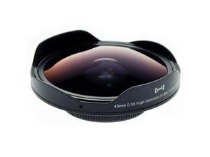 Opteka Platinum Series 43mm 0.3X HD Ultra Fisheye Lens for Canon Vixia HF M500, M400, M52, M50, M41, M40, HV40, HV30, HV20, HG10 and Optura 100MC
