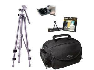 Universal Deluxe Photo Accessory Case & Tripod Kit for Digital & Video Cameras