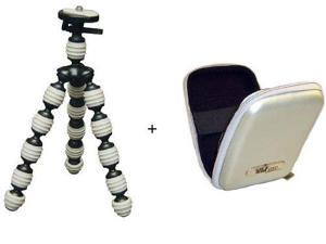 Flexible Gripster Tripod With Slim Hard Case For The Kodak Zi8 Pocket Video Camera / Kodak Playsport Video Camera / Kodak Zx1 Pocket Video Camera