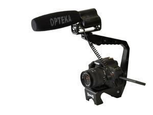 Opteka X-GRIP EX MK III Steel Video Stabilizing Handle with VM-100 Video Condenser Shotgun Microphone Kit