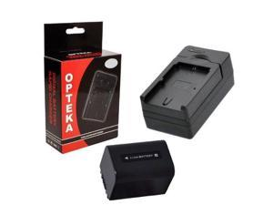 Opteka MBC-FV AC/DC Mono Rapid Battery Charger with Opteka NP-FV70 2500mAh Ultra High Capacity Li-ion Battery Pack