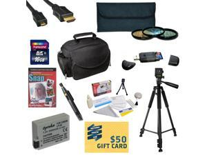 Best Value Kit for Canon 6D 60D 60Da 70D & 5D Mark III Includes 16GB SDHC Card + Battery + Charger + 3 Piece Filters + Gadget Bag +Tripod + Lens Pen + Cleaning Kit + DSLR DVD + $50 Gift Card + More