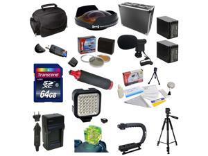Special Edition Kit For Sony HDR-PJ650V, 64GB Memory Card, 5 Piece Filter Kit, 0.3X Ultra Fisheye Lens, 2 NP-FV100 Battery Packs, Charger, X-GRIP, HG-1 Handgrip, LED Light, Mini-Shotgun Mic and More