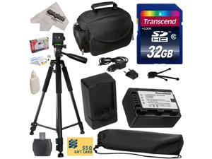 Must Have Kit for Panasonic SD40, T50, TM90, HS40, HS60, HS80, H85, H95, H100, H101, HS60, HS80 Camcorder with 32GB SDHC Card, VW-VBK180 2000mAh Battery, Charger, Carrying Case, Tripod, $50 Gift Card