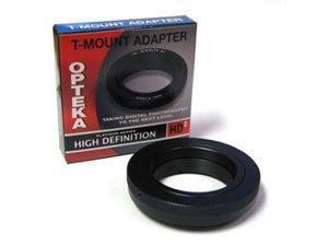 Opteka T-Mount Adapter for Sony Alpha Digital SLRs DSLR-A350, A300, A200, A700, A900, A100, A380, A500, A550, A850, A450,A290, A390, A580, SLT-A33, A55, Minolta Maxxum 5D, 7D, 7, 9xi, 7xi and 5xi
