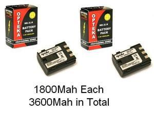 2 NB-2L NB2L NB-2LH Replacement  Li-ion Batteries for Canon EOS Rebel XT XTi 350D 400D Kiss N X, Powershot S30 S40 S45 S50 S55 S60 S70 S80 G7 G9, VIXIA HF R10 R11 R100 HFR10 HFR11 HFR100 HV20 HG10