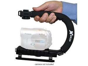 Opteka X-GRIP Professional Camcorder Video Camera Stabilizing Action Support Hand Grip Handle Stabilizer Handheld Holder for Samsung HMX-Q10 HMX-R10 HMX-S10 HMX-T10 SC-HMX10 SC-MX10 HMX-S15 HMX-S16