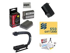 2 Battery Packs For Nikon EN-EL3E Nikon D700, D300, D200, D100, D90, D80, D70, D70s, & D50 Cameras, Opteka X-GRIP, Deluxe Cleaning Kit, $50 Photo Print Gift Card!