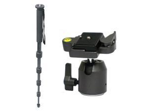 """Opteka CFM300 68"""" 5 Section 8x Carbon Fiber Monopod with TH20 Ball Head"""