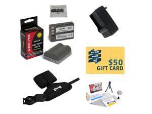 2 Battery Packs For Nikon EN-EL3E for Nikon D700, D300, D200, D100, D90, D80, D70, D70s, & D50 DSLR 2 Batteries In Total, Charger, GS-3 Grip Strap, Deluxe Lens Cleaning Kit, LCD Protectors, and More