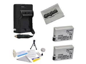 2 Replacement LP-E8 LPE8 Batteries + Charger + Cleaning Kit + Cleaning Cloth For Canon EOS Rebel T2i T3i T4i T5i 550D 600D 650D 700D Kiss X4 X5 X6 X6i X7i DSLR Digital Camera