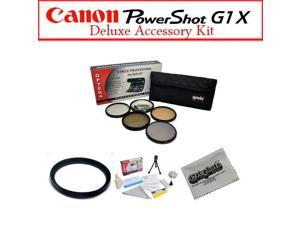 Canon G1X Starter Accessory Package Featuring Opteka Pro 5 Pcs. Filter Kit, Canon G1X Adapter And More
