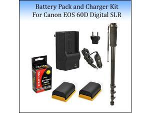 2 Pack Battery Kit For For The Canon EOS 5D Mark 2 3 II III 5DM2 5DM3 6D 7D 60D 60Da 70D DSLR Digital Camera, Includes 2 Extended Replacement LP-E6 (4000 mAh Total) Battery Ac/Dc Rapid Travel Battery