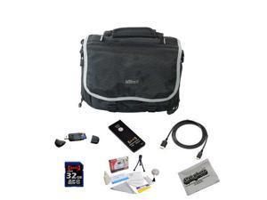 Shooter Package For The Nikon DF, D4, D3X, D800, D800E, D610, D600, D300S, D7100, D7000, D5300, D5200, D5100, D3200 and D3100 Featuring Nikon Deluxe Gadget Bag, Opteka 32GB Class 10 Memory Card + More