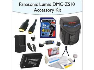 4GB Accessory Package for Panasonic DMC-ZS10 Including 4GB SDHC High Speed Memory Card, Vanguard Soft Leather Carrying Case, Mini HDMI Cable, DMC-BCG10 Battery and More!