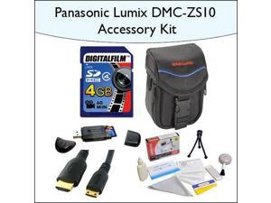 4GB Accessory Package for Panasonic DMC-ZS10 Including 4GB SDHC High Speed Memory Card, Vanguard Sydney-6B Compact Digital Camera Bag, Mini HDMI Cable and More!