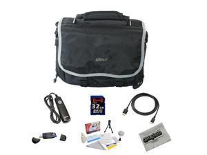 Shooter Package For The Nikon DF, D4, D3X, D800, D800E, D610, D600, D300S, D7100, D7000, D5300, D5200, D5100, D3200 and D3100Featuring Nikon Deluxe Gadget Bag, 32GB Opteka Class 10 Memory Card + More