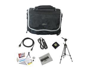 "Shooter Package For The Nikon DF, D4, D3X, D800, D800E, D610, D600, D300S, D7100, D7000, D5300, D5200, D5100, D3200 and D3100 Featuring Nikon Deluxe Gadget Bag, Opteka 70"" Pro Tripod and More"
