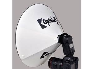 Opteka BD-5 Studio 17-Inch Beauty Dish Reflector/Diffuser/Diverter for Portraits - Universal Design to fit Most External Camera Flashes