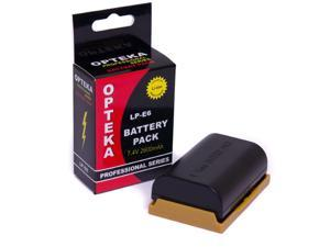 Opteka LP-E6 LPE6 2600mAh Ultra High Capacity Li-ion Battery Pack for the Canon EOS 70D, 60D, 60Da, 7D, 6D, 5D Mark II and III Digital SLR Cameras (Latest Model)
