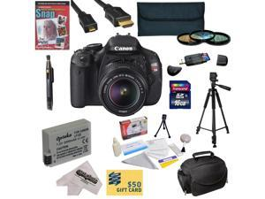 Canon EOS Rebel T3i 18.0 MP CMOS DSLR Camera with 18-135mm EF-S IS STM Lens with 16GB SDHC Card, Battery, Charger, 3 Piece Filter Kit, Gadget Bag, Tripod, Lens Pen, Cleaning Kit, DVD, $50 Gift Card