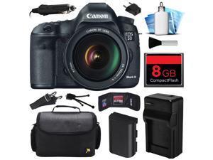 Canon EOS 5D Mark 3 III DSLR Digital Camera w/ 24-105mm Lens (8GB Value Bundle)