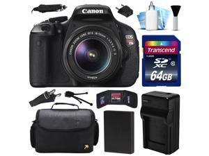 Canon EOS Rebel T3i 600D DSLR Digital Camera w/ 18-55mm Lens (64GB Value Bundle)