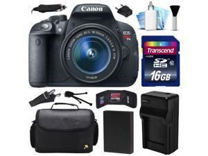 Canon EOS Rebel T5i 700D DSLR Digital Camera w/ 18-55mm Lens (16GB Value Bundle)
