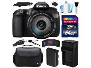 Canon EOS 60D DSLR SLR Digital Camera w/ EF-S 18-200mm Lens (64GB Value Bundle)