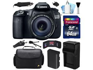 Canon EOS 60D DSLR SLR Digital Camera w/ EF-S 18-135mm Lens (64GB Value Bundle)