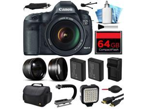 Canon EOS 5D Mark 3 III Digital Camera w/ 24-105mm Lens (64GB Essential Bundle)