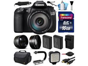 Canon EOS 60D SLR Digital Camera w/ EFS 18-200mm IS Lens (16GB Essential Bundle)