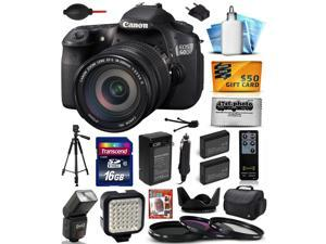 Canon EOS 60D 18 MP CMOS Digital SLR Camera with EF-S 18-200mm f/3.5-5.6 IS Lens includes 16GB Memory + Large Case + Tripod + Flash + Video Light + 2 Batteries + Shutter Remote +$50 Gift Card 4460B016