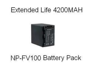 Sony NP-FV100 5 Hour Replacement Battery For The Sony DCR-SX44 DCR-SX63 DCR-SX83 DCR-SR68 DCR-SR88 SONY HDR-CX110 HDR-CX150 HDR-CX300 HDR-CX350 HDR-CX500V HDR-CX550V HDR-CXR150 XR350V XR550V
