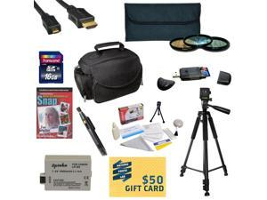 Best Value Kit for Canon XS XSi Includes 16GB SDHC Card + Extra Battery + Charger + 3 Piece Pro Filter Kit + HDMI Cable + Gadget Bag +Tripod + Lens Pen + Cleaning Kit + DSLR DVD + $50 Gift Card + More