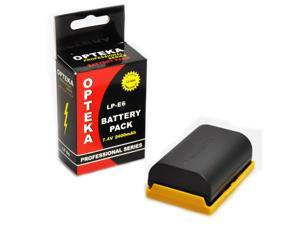 Opteka LP-E6 2600mAh Ultra High Capacity Li-ion Battery Pack for the Canon EOS 5D Mark II & III, 6D, 7D & 60D DSLR Cameras (Latest Model)