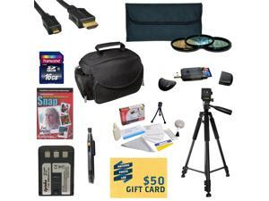 Best Value Kit for Canon XT XTI Includes 16GB SDHC Card + Extra Battery + Charger + 3 Piece Pro Filter Kit + HDMI Cable + Gadget Bag +Tripod + Lens Pen + Cleaning Kit + DSLR DVD + $50 Gift Card + More