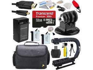32GB Enthusiast Accessory Package Bundle for GoPro HERO4 Hero 4 Black Silver